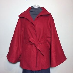 Jaclyn Smith Red Cape Coat L / XL